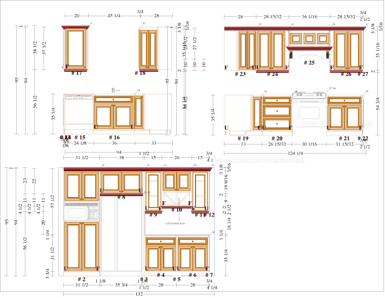 Cabinet Drawings Elevations