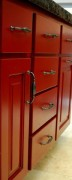 Red Cabinet & Drawers