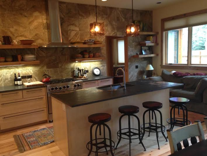 natural maple full overlay slab foothills cabinet company  u2013 boise idaho   kitchen cabinets  rh   foothillscabinets com