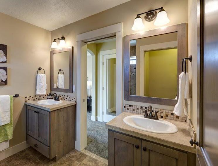 Knotty Alder Barnwood Timeless Door Frame Bath Vanities