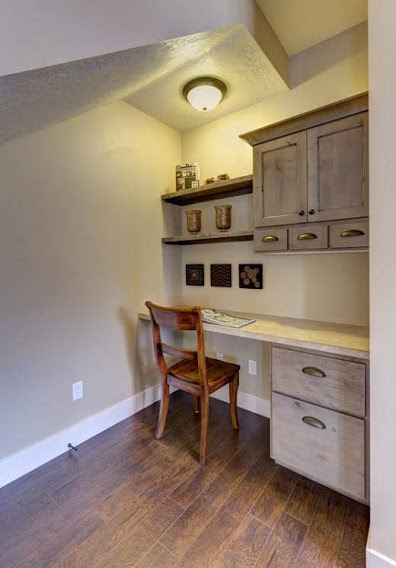 Knotty Alder Barnwood Timeless Door Frame Desk