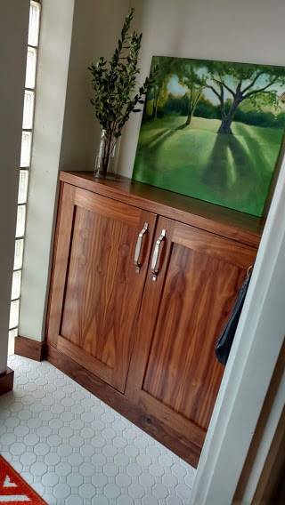 Natural Walnut Entry Cabinets