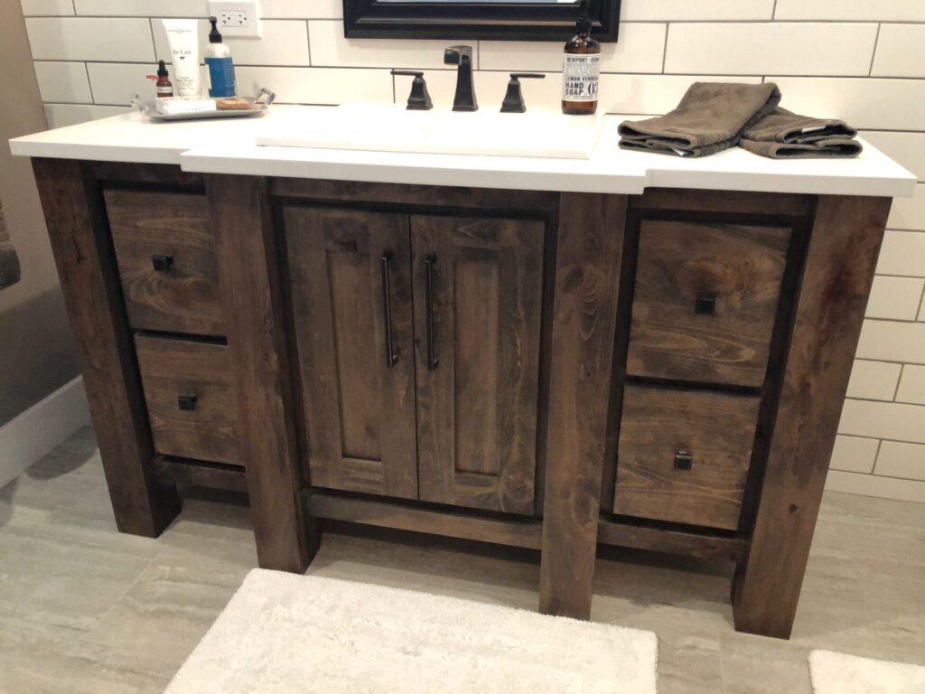 Rustic Beechwood Custom Vanity Sam