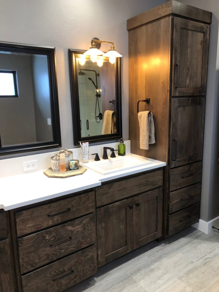 Rustic Beechwood Vanity and Linen by Sam